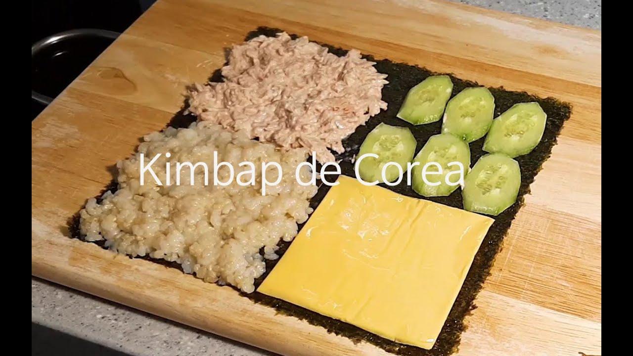 Cómo hacer Kimbab doblado | 접어먹는 김밥| Cocina rápido y fácil | receta de comida coreana
