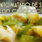Entomatado de setas con calabacitas - Cocina Vegan Fácil