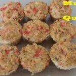 Muffins de Quinoa para el desayuno -  llevar a la escuela o trabajo - Sin gluten - Saludable y fácil  Mi receta de cocina