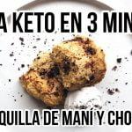 POSTRE KETO DE MANTEQUILLA DE MANI Y CHOCOLATE EN 3 MINUTOS | PB CHOCOLATE MUG CAKE | Manu Echeverri  Mi receta de cocina