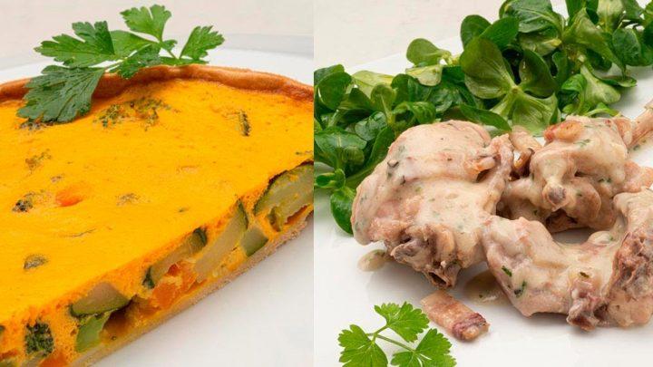 Pastel de verduras - Conejo al Jerez - Cocina Abierta de Karlos Arguiñano