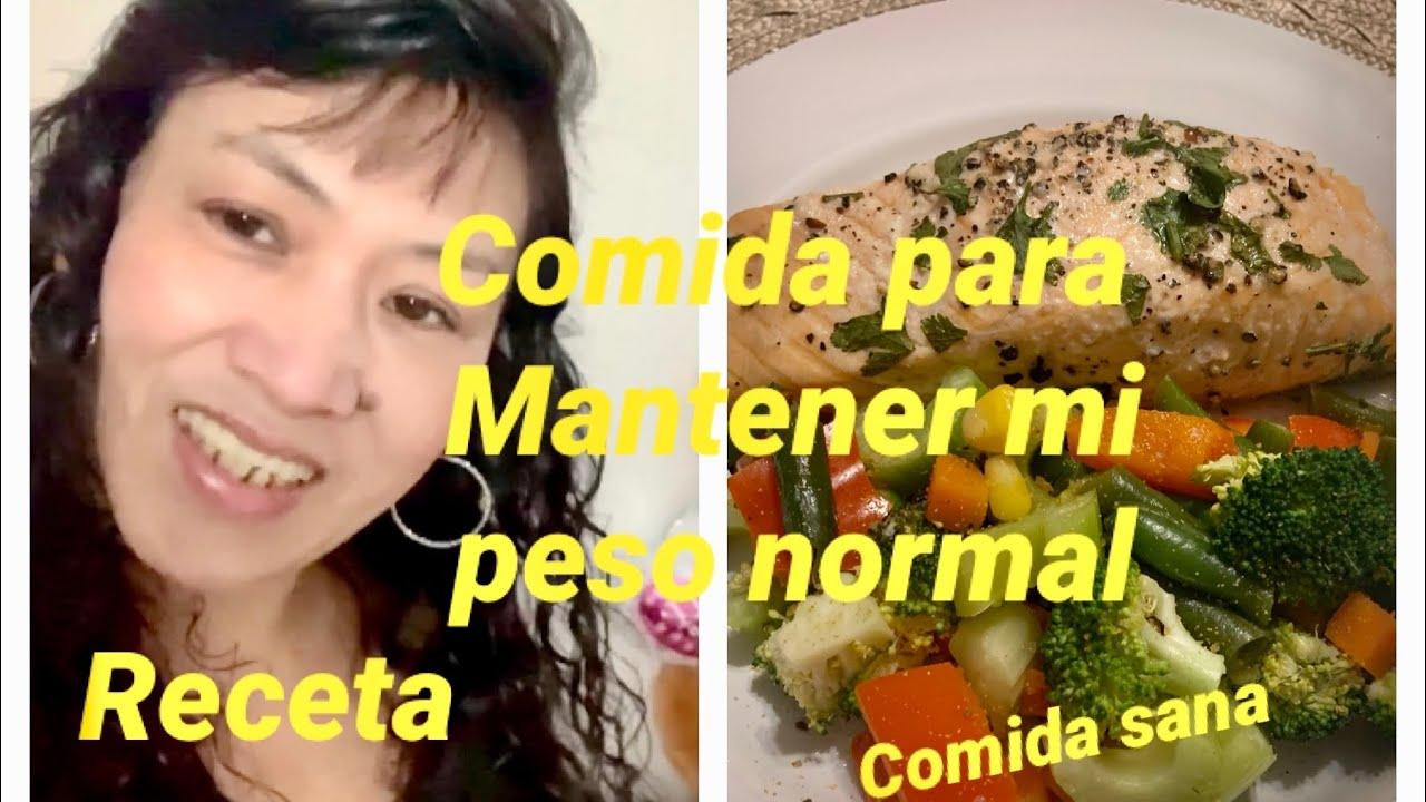 QUE COMO PARA MANTENER MI PESO NORMAL/ COMIDA SANA//RECETA
