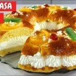 ROSCÓN de Reyes fácil SIN MASA MADRE con harina NORMAL. ¡Con esta receta triunfarás seguro!