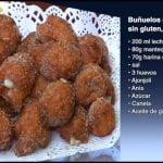 Receta de Buñuelos rellenos de crema sin gluten y sin lactosa.  Mi receta de cocina