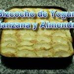 Receta de bizcocho de yogur, almendra y manzana. RECETA FÁCIL  Mi receta de cocina