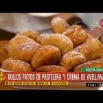 Receta dulce: Bollos fritos de pastelera y crema de avellanas