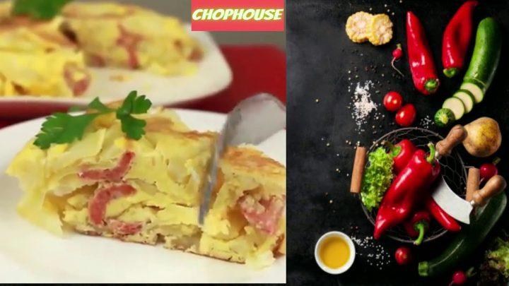 Recetas de cocina Tortilla española con chorizo paso a paso