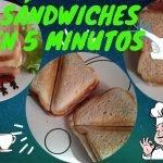 SANDWICH EN 1 MINUTO 🥠 SERIE 2/5 Recetas De Cocina Fácil Y Rápido