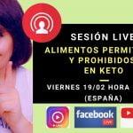 Sesión LIVE – Alimentos permitidos y prohibidos en Keto  Mi receta de cocina