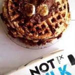 Sin gluten y sin lácteos! Tentada de algo dulce hice esta Torre de Waffles y  quedaron tremendos!💣  Mi receta de cocina