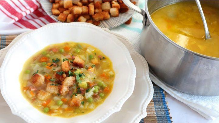 Sopa Juliana de verduras. ¡La cena perfecta!