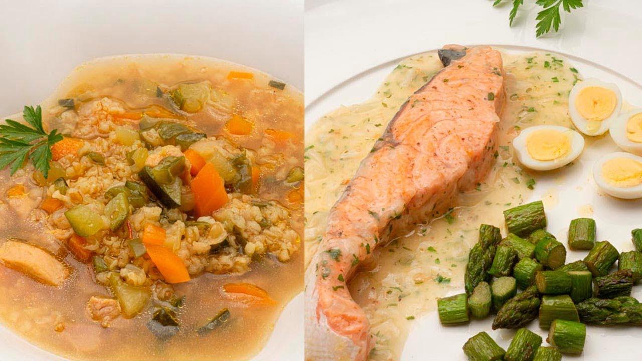 Sopa de bulgur con verduras - Salmón en salsa verde - Cocina Abierta de Karlos Arguiñano ☺️