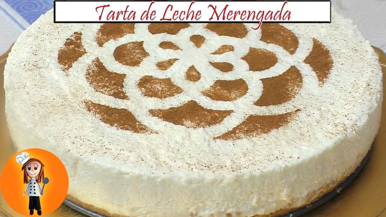 Tarta de Leche Merengada sin horno | Receta de Cocina en Familia