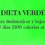 Dieta para desintoxicar y bajar de peso #1 ( 7 dias 1500 calorias al dia )