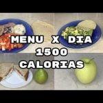 MENU X DIA 1500 CALORIAS/DIA 1/SEMANA 2/BAJA DE PESO/FABI CEA