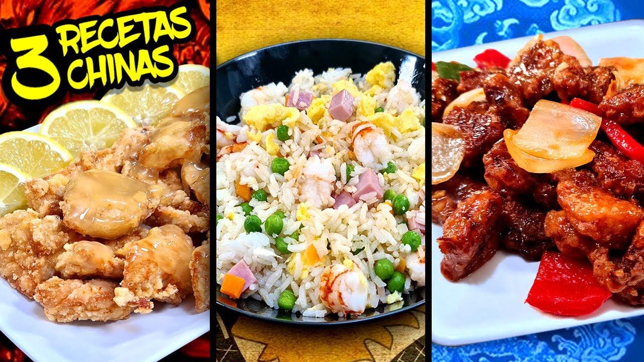3 RECETAS de COMIDA CHINA para hacer en CASA con las que FLIPARAS!