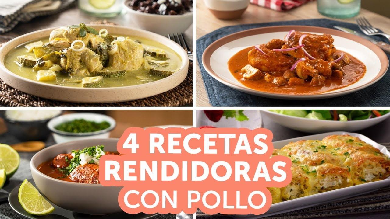 4 recetas rendidoras con pollo | Kiwilimón