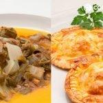 Acelgas con bagna cauda - Mini pastelitos de atún con tomate - Cocina Abierta de Karlos Arguiñano