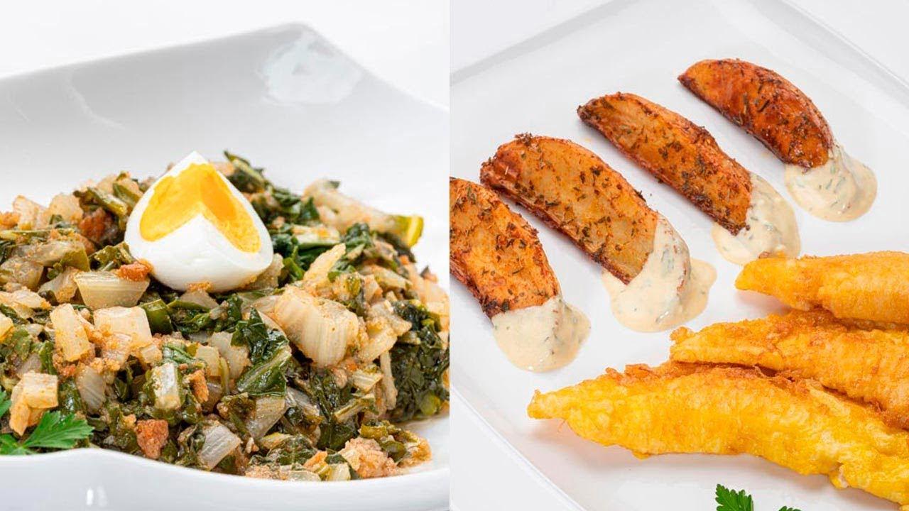 Acelgas en adobo - Filetes de gallo con patatas deluxe - Cocina Abierta de Karlos Arguiñano