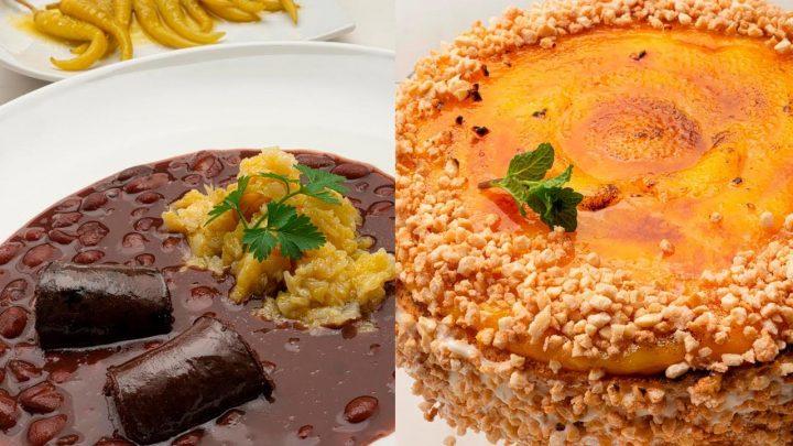 Alubias de Tolosa con berza y morcilla - Tarta San Marcos - Cocina Abierta de Karlos Arguiñano