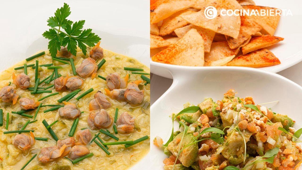 Arroz con berberechos - Totopos con guacamole - Cocina Abierta de Karlos Arguiñano