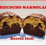 BIZCOCHO MARMOLADO CON COBERTURA DE CHOCOLATE - Receta Fácil  Mi receta de cocina