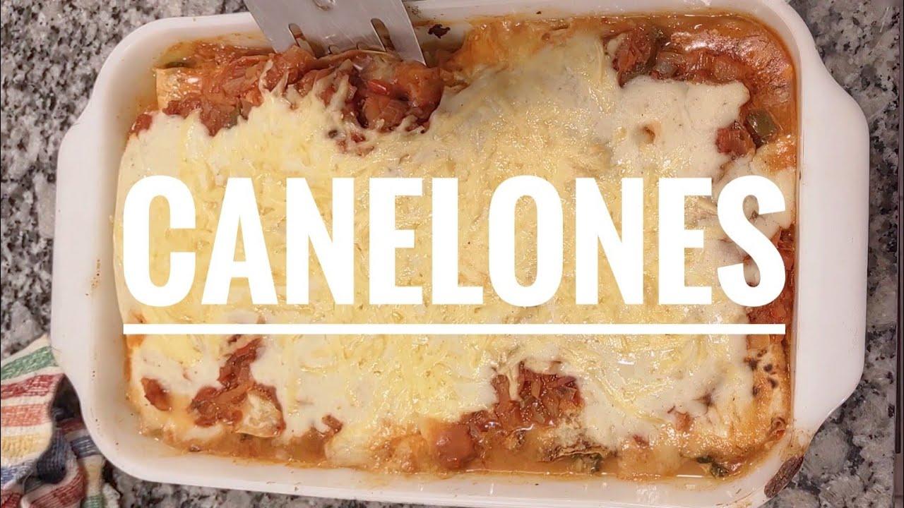 COMO hacer CANELONES  receta FACIL verdura o jamón y queso #shorts #videoscortos