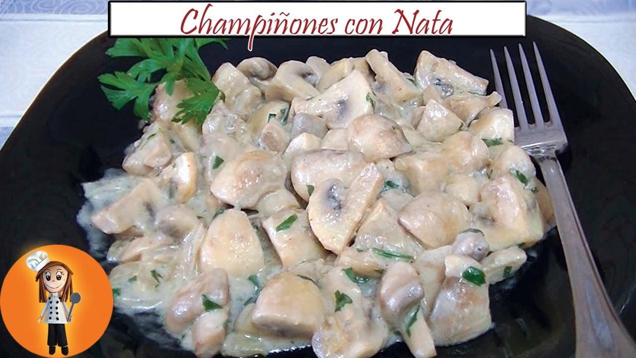 Champiñones con Nata | Receta de Cocina en Familia