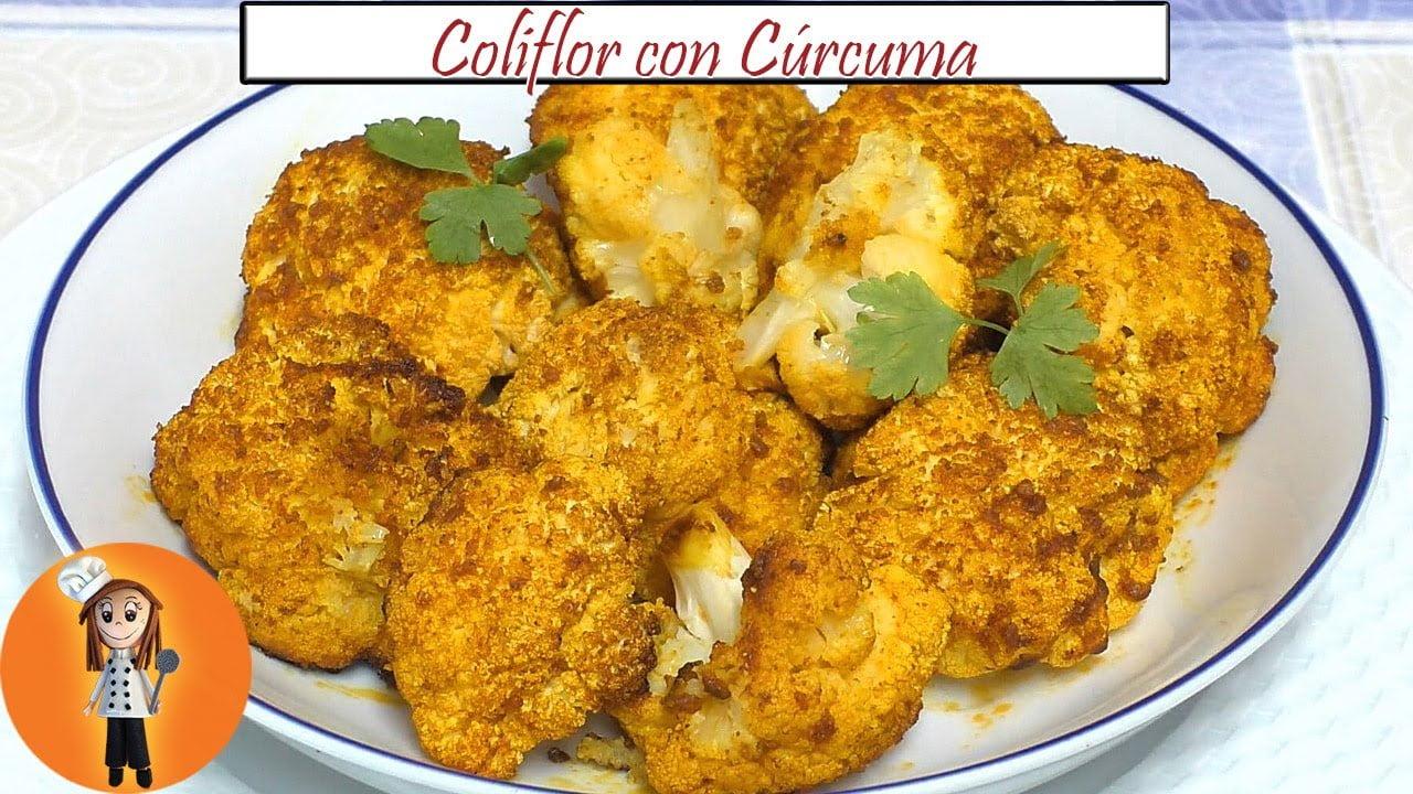 Coliflor con Cúrcuma | Receta de Cocina en Familia