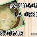 ESPINACAS A LA CREMA CON THERMOMIX   RECETA FÁCIL  Mi receta de cocina