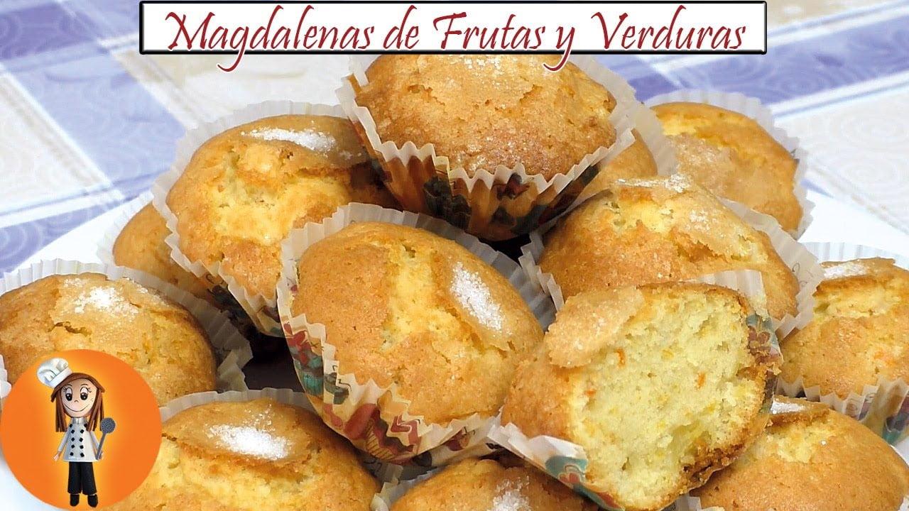 Magdalenas de Frutas y Verduras | Receta de Cocina en Familia