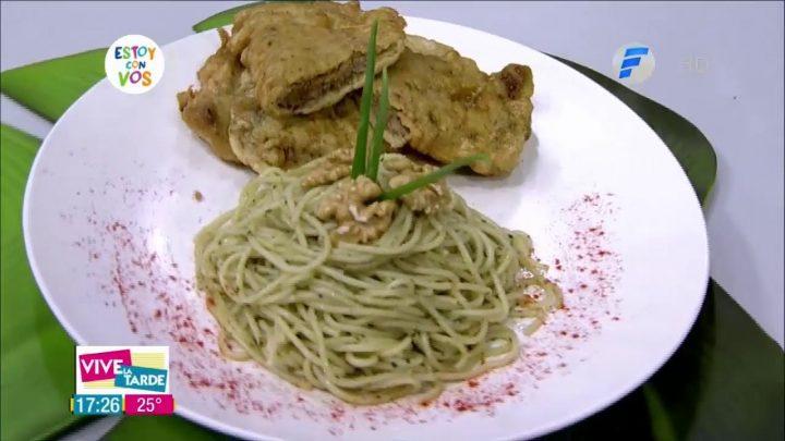 Oscar Pintos cocina con HR Marineras con fideos al pesto   Receta del día en VLT
