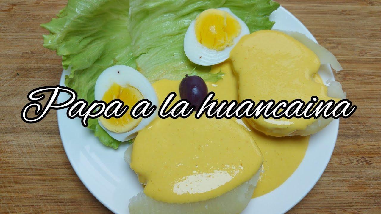 Papa a la huancaina / receta peruana / cocina fácil.