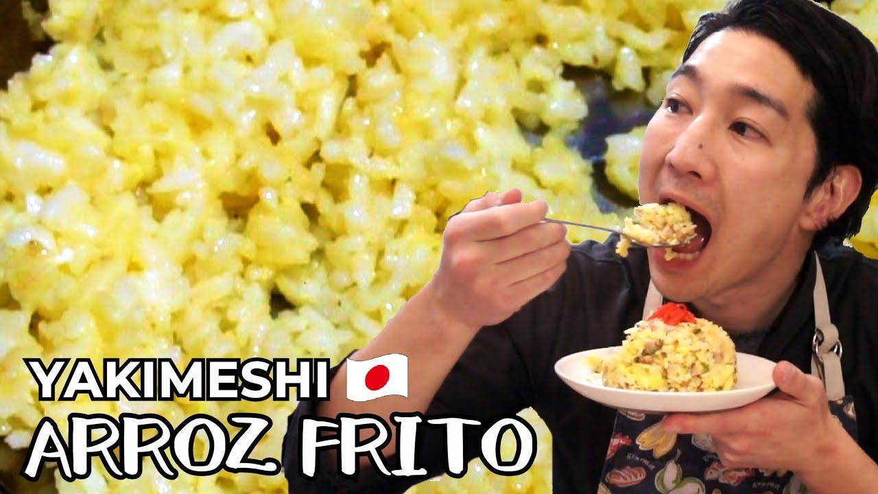 Receta YAKIMESHI fácil y delicioso de arroz frito cocina japonesa