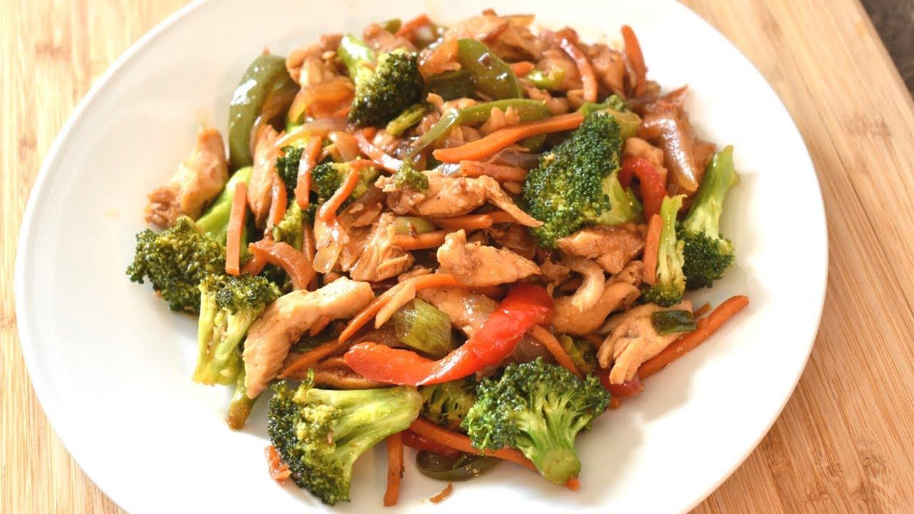 Receta china de Pollo con Brócoli y otras Verduras canal cocina