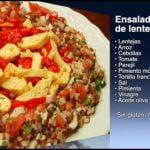Receta de  Ensalada de lentejas sin gluten y sin lactosa, como se hace  Mi receta de cocina