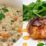 Risotto de verduras con queso azul - Chuleta de cerdo con miel - Cocina Abierta de Karlos Arguiñano