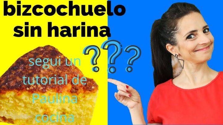 Seguí un tutorial de Paulina cocina Receta bizcochuelo casero esponjosos sin harina