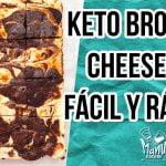 🍫THE BEST KETO CHEESECAKE BROWNIE | POSTRE BROWNIE Y CHEESECAKE FÁCIL Y RÁPIDO | Manu Echeverri  Mi receta de cocina