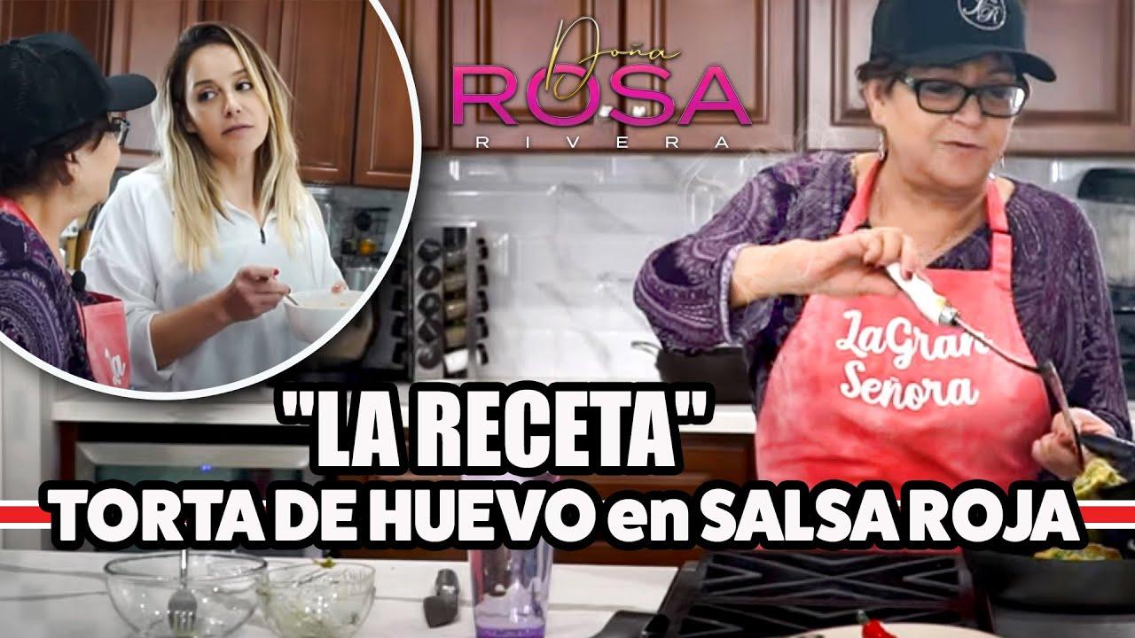 TORTA DE HUEVO en SALSA ROJA | Receta ¡MUY FACIL, RÁPIDA y RICA! | Doña Rosa Rivera Cocina