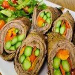 Almuerzo/Cena P/Bajar Colesterol BISTECES RELLENOS DE VERDURAS Fácil, Rico y Sano | Cocina de Addy