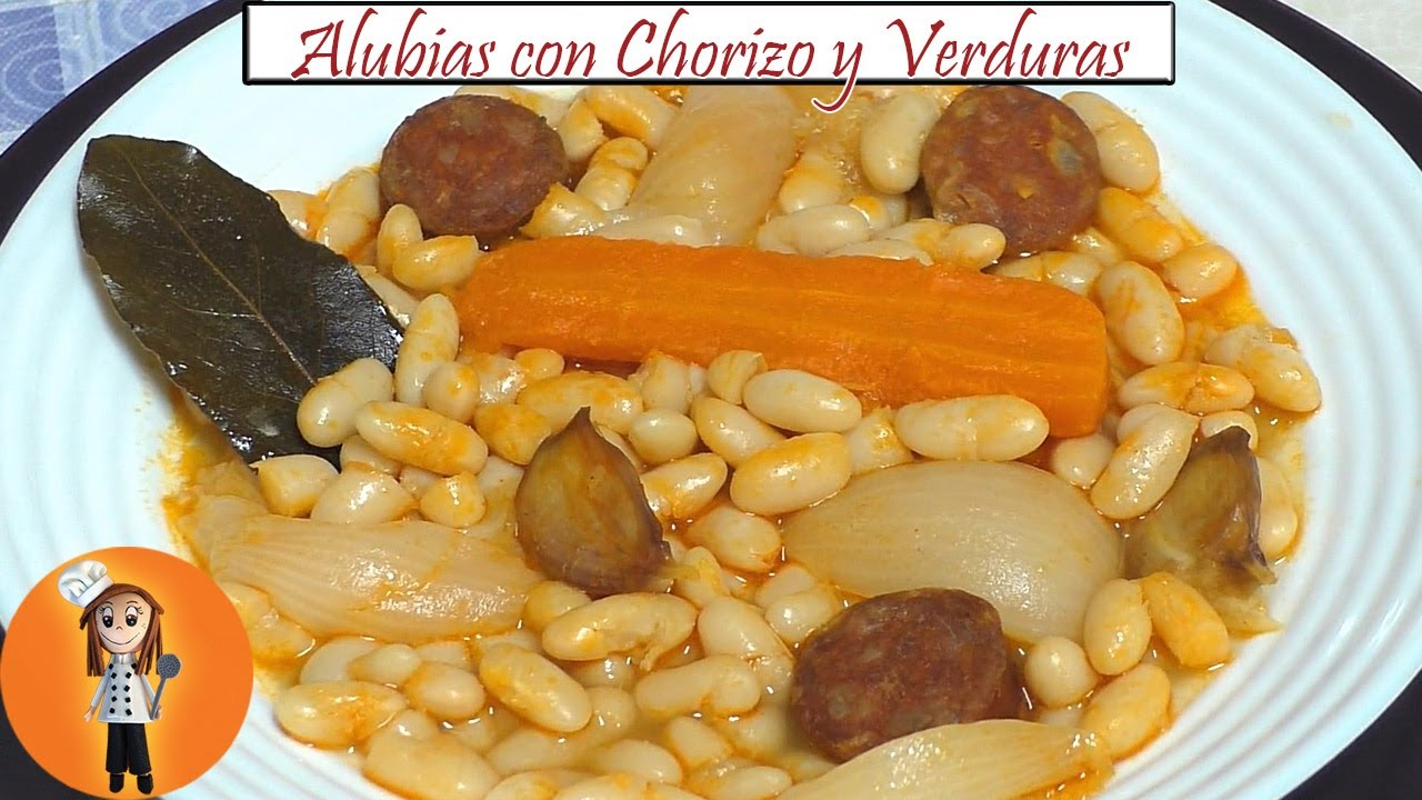 Alubias con chorizo y verduras   Receta de Cocina en Familia