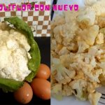 Coliflor - Receta de coliflor con huevo 😋  Recetas de cocina fácil y rápido