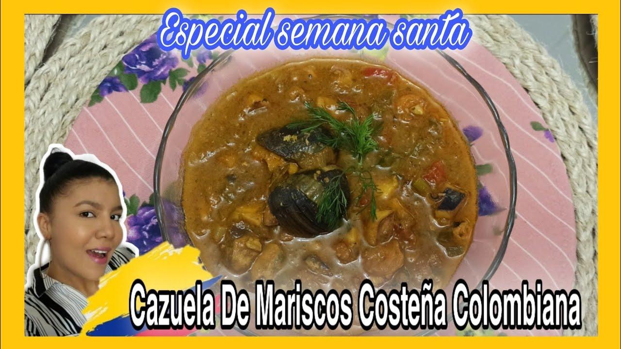 Cómo hacer CAZUELA DE MARISCOS COSTEÑA COLOMBIANA / RECETAS DE SEMANA SANTA / Cocina Con Nelu