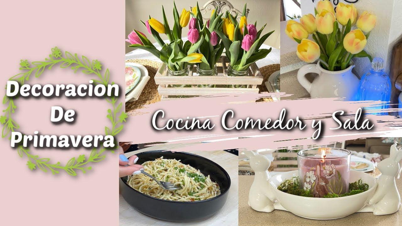 Decoración Primavera 2021   Cocina, Comedor y Sala / Receta De Comida Sandy Bella