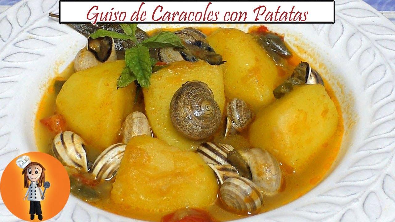 Guiso de Caracoles con Patatas   Receta de Cocina en Familia