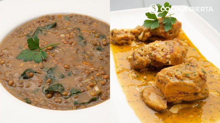 Lentejas con verduras en olla express - Pollo en pepitoria -  Cocina Abierta de Karlos Arguiñano