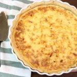 Quiche de cebolla y beicon (Quiche Lorraine)   Receta fácil