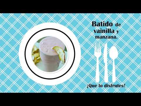 RECETA DE BATIDO DE VAINILLA Y MANZANA (Recetas de Cocina)