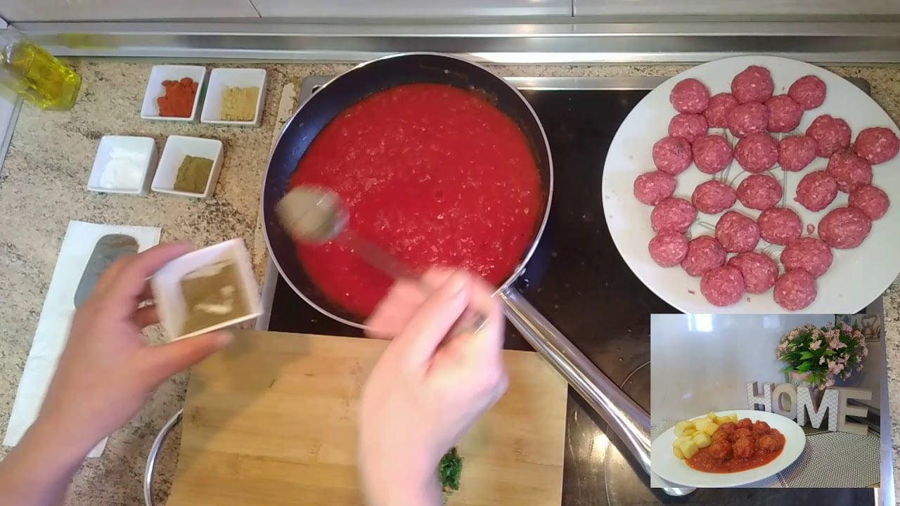 Receta Tallin de kefta en sarten, delicioso - Recetas de cocina facil